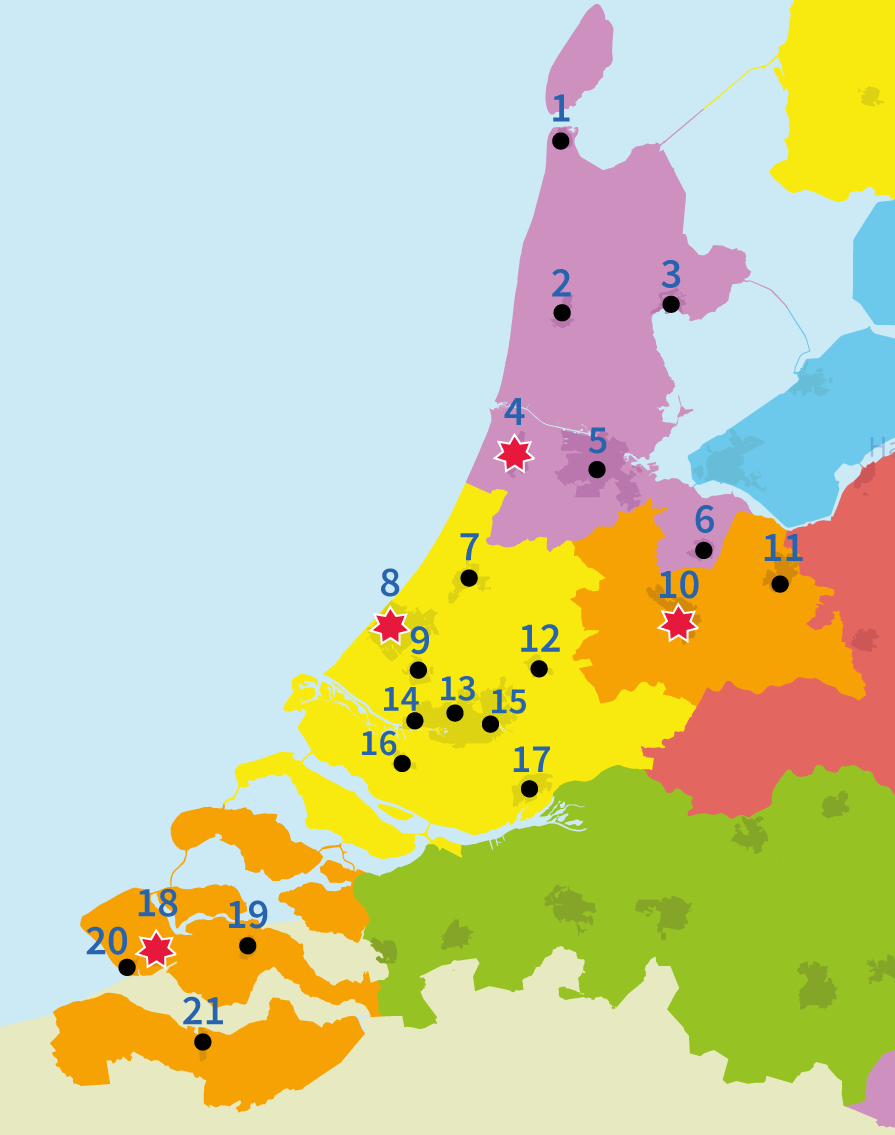 topo oefenen, steden in Nederland, west-nederland, provincies, junior einstein