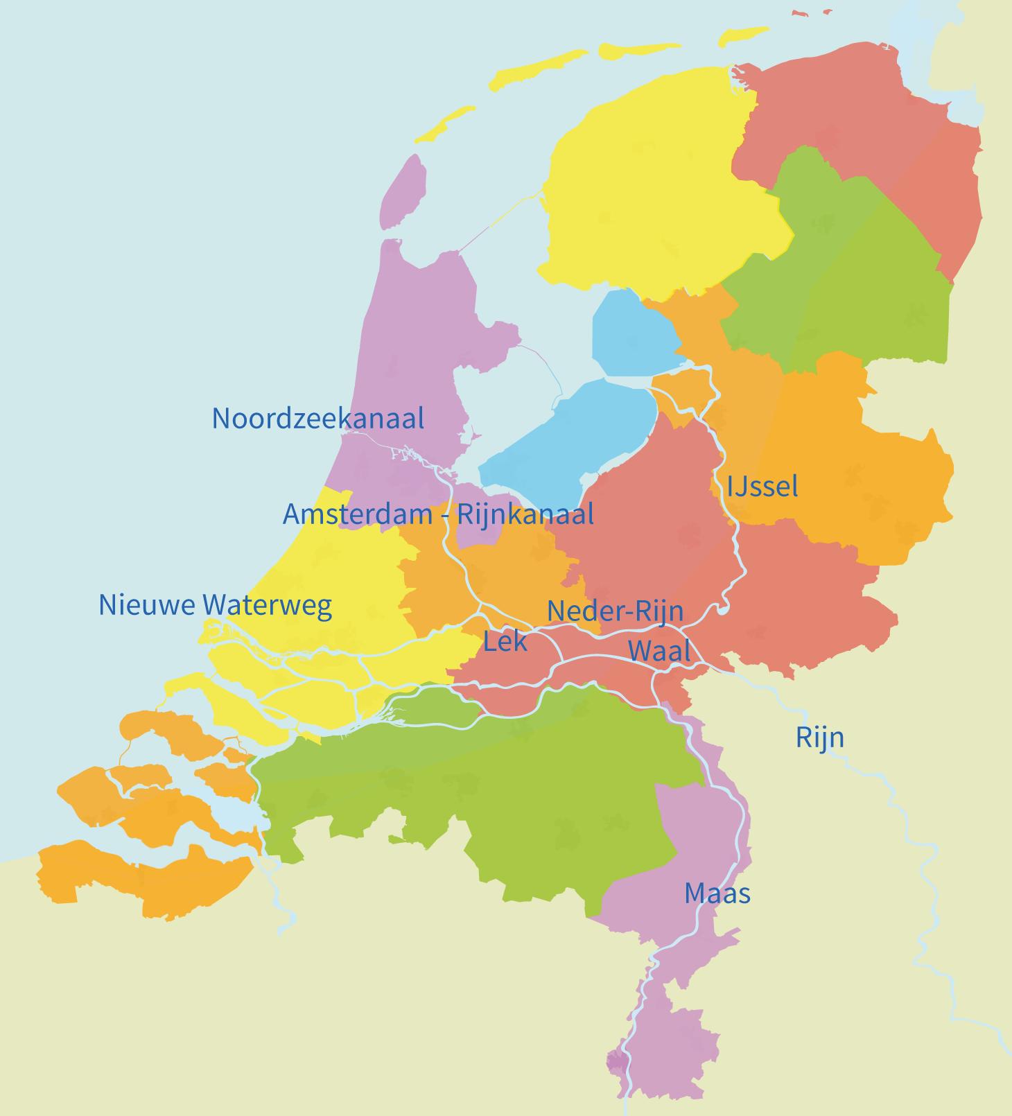 Nederland, rivieren, topo, kanalen, groep 5, topografie, maas, rijn, waal, IJssel