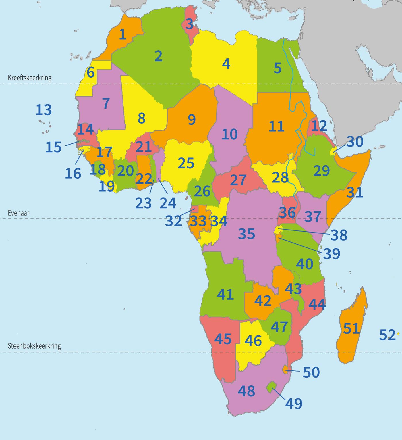 topo, topografie, Afrika, Afrikaanse landen, continent Afrika, aardrijkskunde, groep 8, Junior Einstein