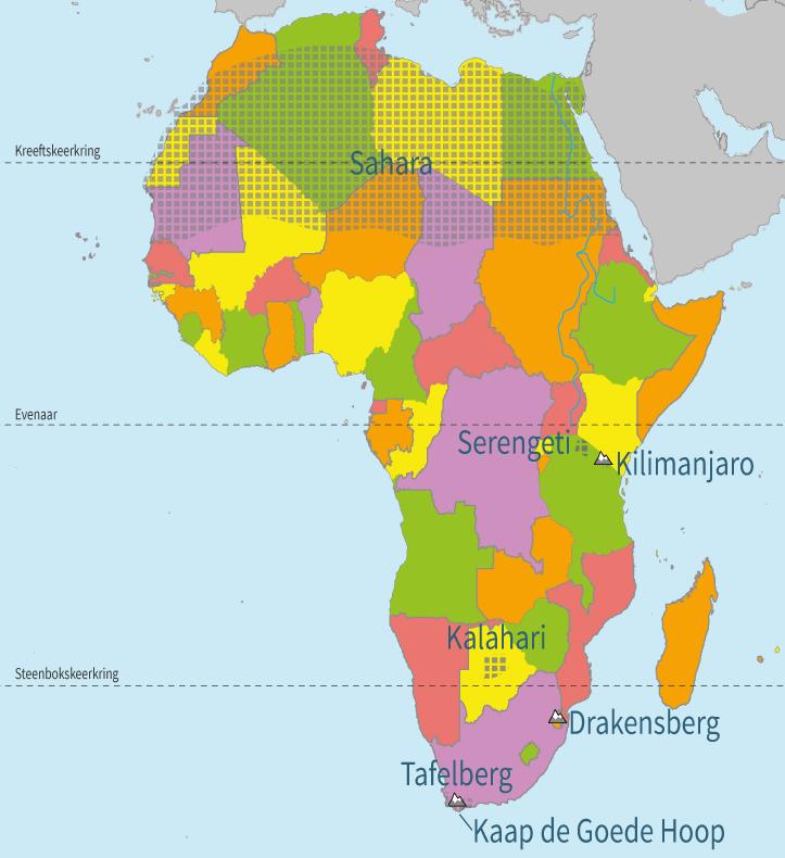 topografie, oefenen, junior einstein, gebieden, afrika, landen