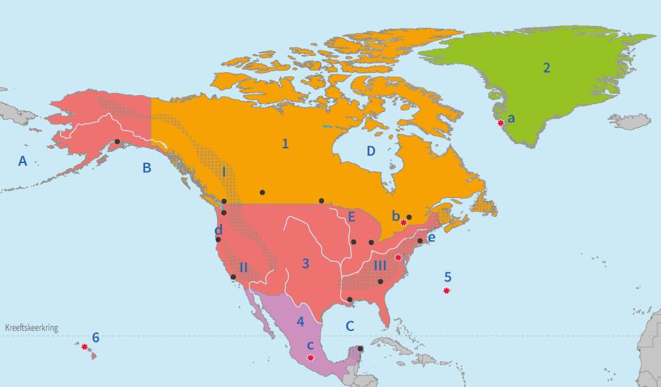 topografie, junior einstein, oefenen, noord, amerika, landen, steden, gebieden, wateren