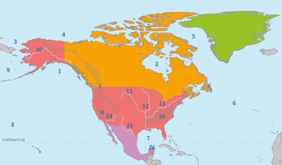 junior einstein, topografie, noord, amerika, wateren, gebergten, gebieden