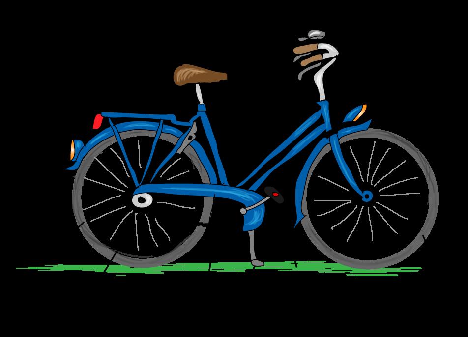 Een veilige fiets. Wat zit er op een veilig fiets? Online verkeer oefenen.