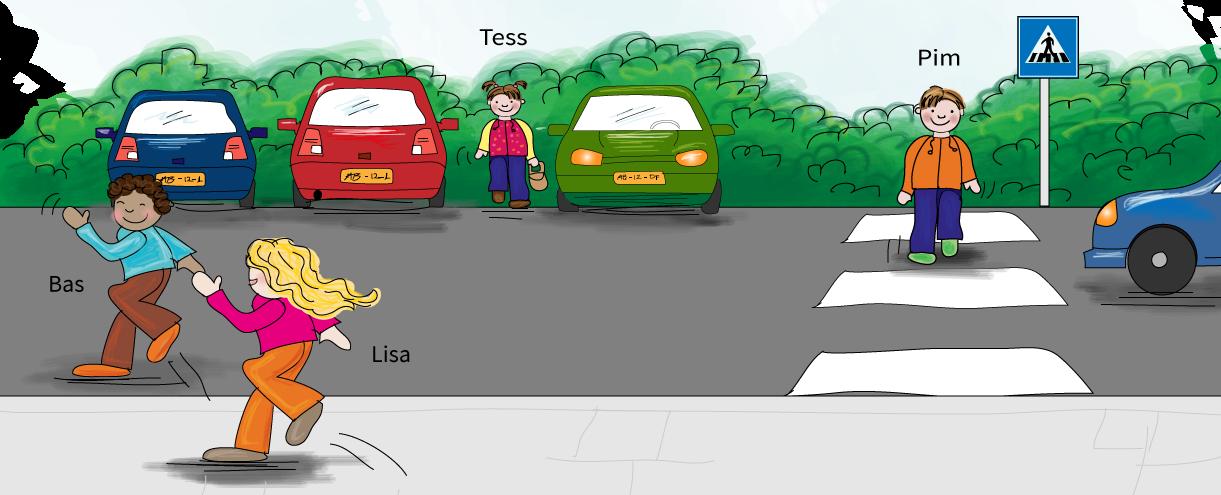 Hoe steek je veilig de straat over? Online verkeer oefenen voor het basisonderwijs