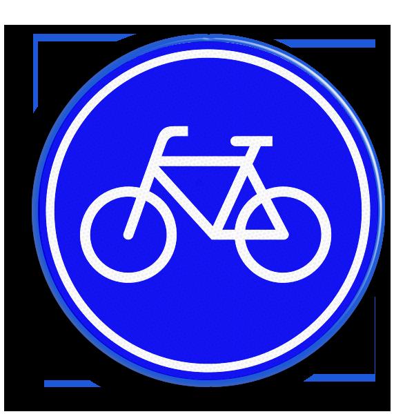 Verplicht fietspad, online oefenen voor het verkeersexamen