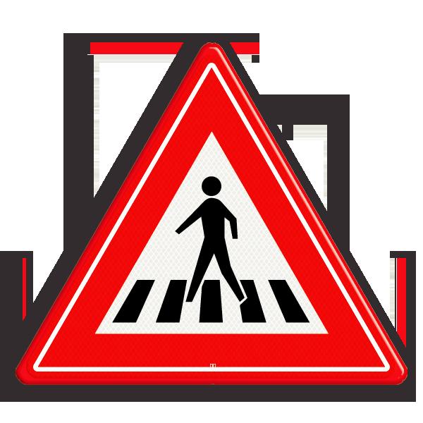 Pas op! Een zebrapad, oversteekplaats voor voetgangers, online verkeer oefenen