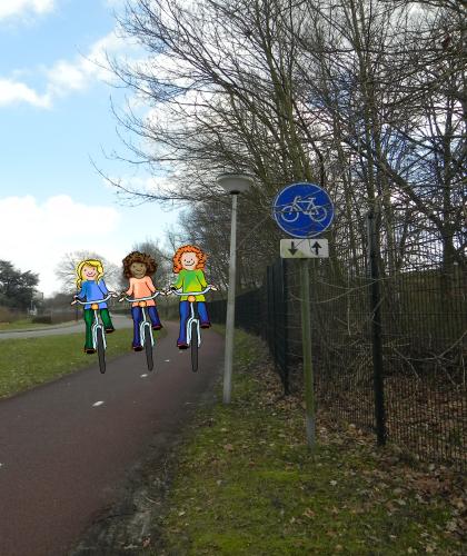 Veilig samen op de fiets, online verkeer oefenen, fiets niet met z'n drieën