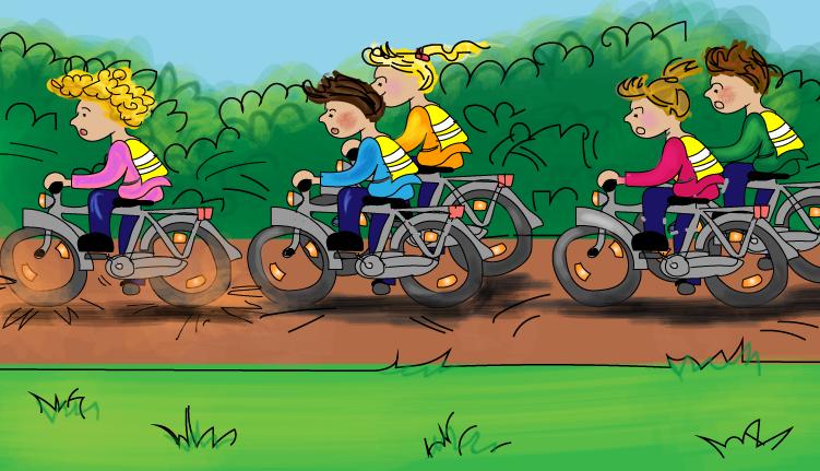 Veilig fietsen in een groep, online verkeer oefenen, grope 7