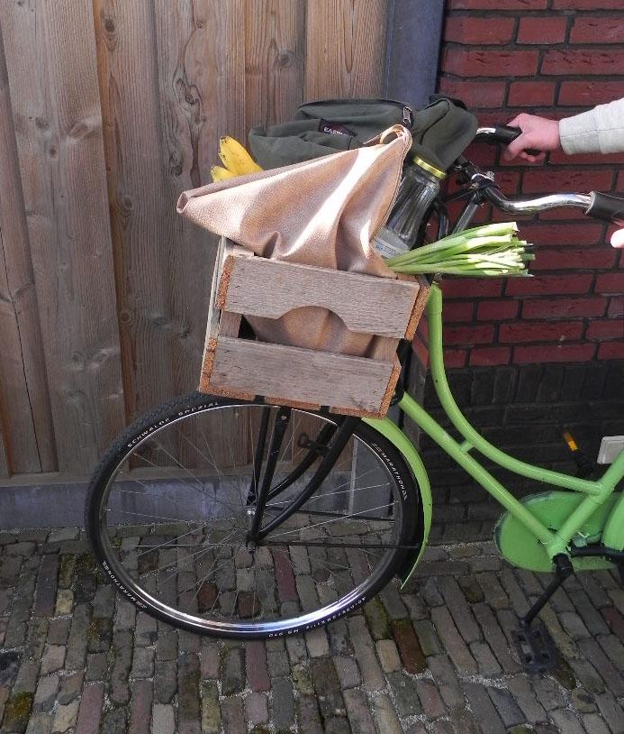Te zware bagage op de fiets, online verkeer oefenen