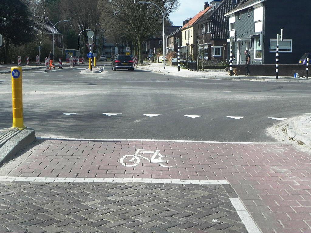 het opstelvlak voor fietsers