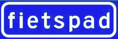 Verkeersbord niet-verplicht fietspad